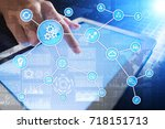 automation concept as an... | Shutterstock . vector #718151713