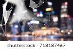 big data   iot   artificial... | Shutterstock . vector #718187467