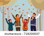 happy family having fun and... | Shutterstock .eps vector #718200037
