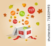 special fall offer sale... | Shutterstock .eps vector #718209493