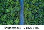 top view of pathway in forest ... | Shutterstock . vector #718216483