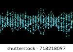 generative random dot line wave ... | Shutterstock .eps vector #718218097