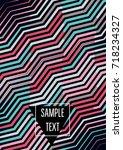 minimal cover template. flat... | Shutterstock .eps vector #718234327
