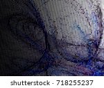 abstract halftone background.... | Shutterstock . vector #718255237