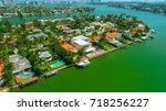 venetian islands  miami beach ...   Shutterstock . vector #718256227