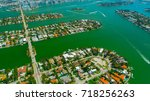 venetian islands  miami beach ...   Shutterstock . vector #718256263