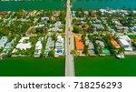venetian islands  miami beach ...   Shutterstock . vector #718256293