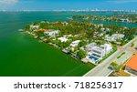 venetian islands  miami beach ...   Shutterstock . vector #718256317
