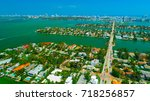 venetian islands  miami beach ...   Shutterstock . vector #718256857