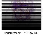 abstract halftone background.... | Shutterstock . vector #718257487