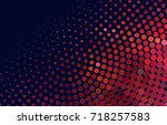 abstract halftone background.... | Shutterstock . vector #718257583