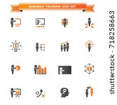 business training icon set | Shutterstock .eps vector #718258663