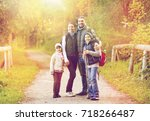 travel  tourism and hike... | Shutterstock . vector #718266487