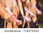 photography of graduates in... | Shutterstock . vector #718275433