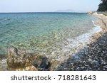 beautiful beach from greece   Shutterstock . vector #718281643
