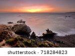 vila nova de milfontes  odemira ...   Shutterstock . vector #718284823