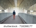 Man On The Footbridge Under...