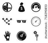 high speed icons set. simple... | Shutterstock .eps vector #718290853