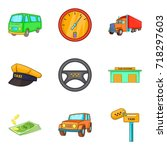 excellent driver icons set.... | Shutterstock .eps vector #718297603