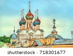 church of the savior at the... | Shutterstock . vector #718301677