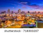 new orleans  louisiana  usa... | Shutterstock . vector #718303207