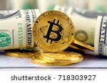 physical version of bitcoin ... | Shutterstock . vector #718303927