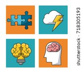 science and ideas icons | Shutterstock .eps vector #718305193