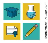 science and ideas icons | Shutterstock .eps vector #718305217