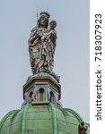notre dame en saint melaine... | Shutterstock . vector #718307923