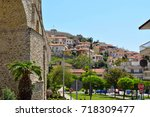 landscape of the city and the... | Shutterstock . vector #718309477