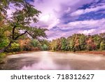 Small photo of Fall colors abound on a pristine lake near the Chesapeake Bay