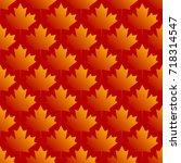 autumn maple leaves symmetrical ... | Shutterstock .eps vector #718314547