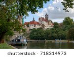 views of the castle from the... | Shutterstock . vector #718314973