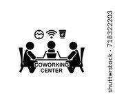 coworking center vector icon | Shutterstock .eps vector #718322203