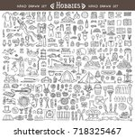 vector set with hand drawn...   Shutterstock .eps vector #718325467