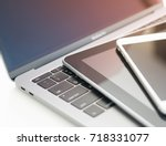 computer electronic devices... | Shutterstock . vector #718331077