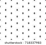 geometric black and white... | Shutterstock .eps vector #718337983