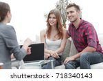 young happy couple at therapy... | Shutterstock . vector #718340143