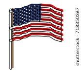 flag united states of america... | Shutterstock .eps vector #718350367