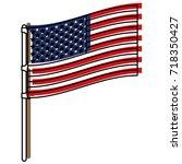 flag united states of america... | Shutterstock .eps vector #718350427
