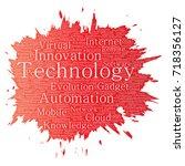 conceptual digital smart... | Shutterstock . vector #718356127