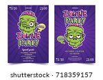 halloween costume party a4... | Shutterstock .eps vector #718359157