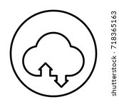 cloud icon. cloud sync icon. | Shutterstock .eps vector #718365163