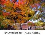 seiryoji is a zen temple on the ... | Shutterstock . vector #718372867