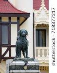 Small photo of June 4, 2016. Close-up detail of the Yah Leh monument, King Rama VI's dog at Chali Mongkol Asana, Sanam Chandra Palace. Nakhon Pathom, Thailand. Travel and tourism editorial concept.
