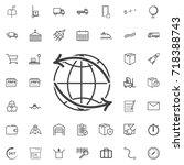 around the world. worldwide... | Shutterstock .eps vector #718388743