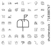 mailbox line icon logistics... | Shutterstock .eps vector #718388767