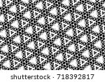 ornament with elements of black ... | Shutterstock . vector #718392817