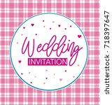 wedding invitation with hearts... | Shutterstock .eps vector #718397647
