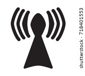 Base Station  Icon Vector...